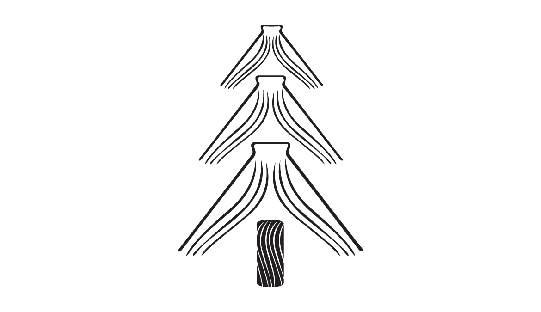 Texas Tech University Press Holiday Open House logo designed by Miranda Williams