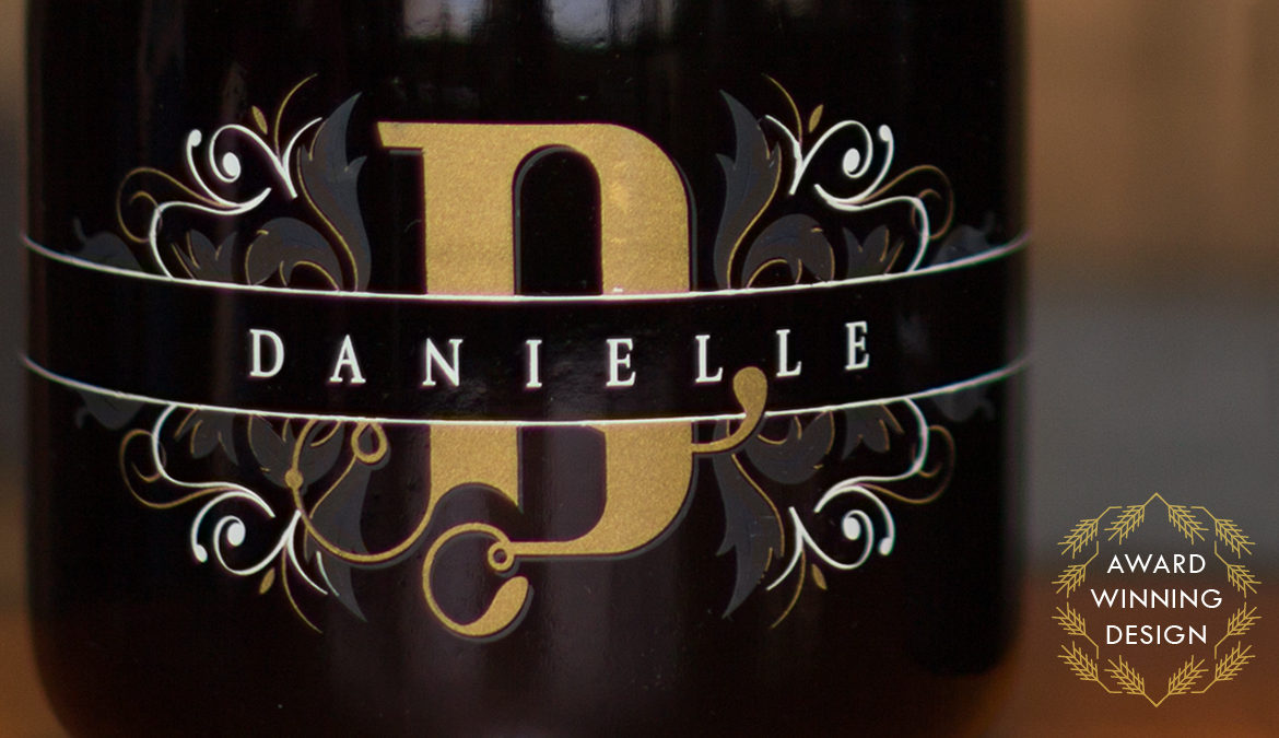 Danielle Commemorative Wine packaging by Miranda Williams
