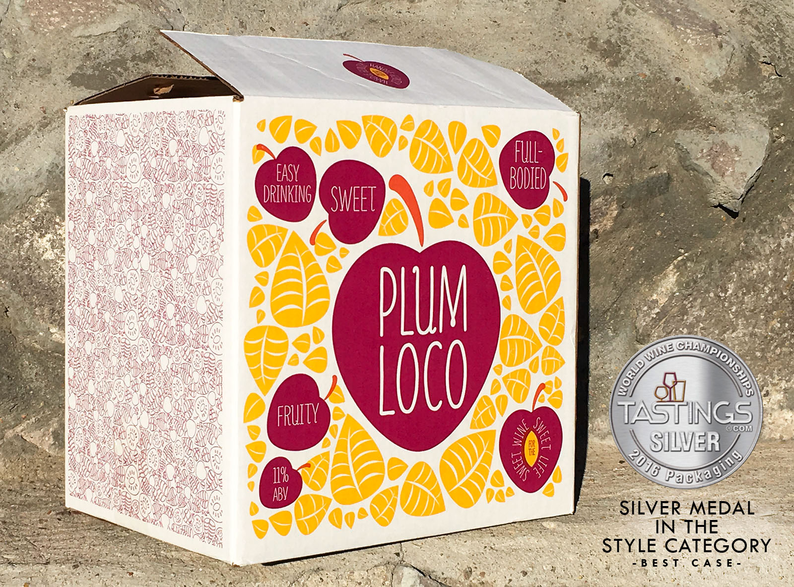Award winning Plum Loco case designed by Miranda Williams