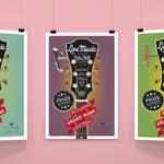 Live Music Poster Series designed by Miranda Williams
